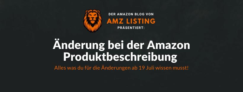Änderung bei der Amazon Produktbeschreibung