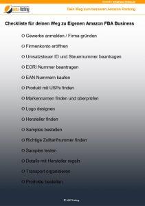 Amazon FBA Checkliste - Gratis zum download auf www.amz-listing.de