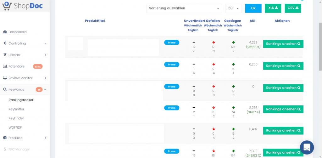 Der Ranking Tracker von ShopDoc ist sehr gut geeingnet um deine Keyword Rankings zu tracken.