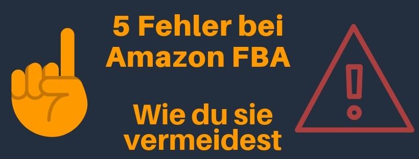 Das ist ein Blogartikel in dem du erfährst, wie man die größten Fehler bei Amazon FBA vermeidet.