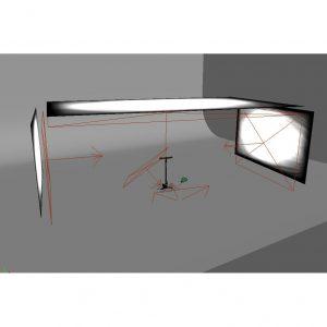 3D Rendering Studio, komplett animiert. Perfekt um deine Produktfoto Renderings optimal zu beleuchten.